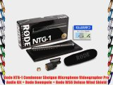 Rode NTG-1 Condenser Shotgun Microphone Videographer Pro Audio Kit   Rode Boompole   Rode WS6