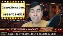 Kansas St Wildcats vs. West Virginia Mountaineers Free Pick Prediction NCAA College Basketball Odds Preview 1-27-2015