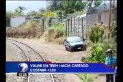 Tren a Cartago será inaugurado el próximo viernes con 30 viajes por día
