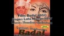 Unse Pyar Ho Gaya Lata Mangeshkar Shankar Jaikishan Badal 1951 Shailendra Madhubala
