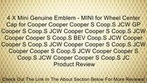 4 X Mini Genuine Emblem - MINI for Wheel Center Cap for Cooper Cooper Cooper S Coop.S JCW GP Cooper S Coop.S JCW Cooper Cooper S Coop.S JCW Cooper Cooper S Coop.S BEV Coop.S JCW Cooper Cooper S Coop.S JCW Cooper Cooper S Coop.S JCW Cooper Cooper S Coop.S