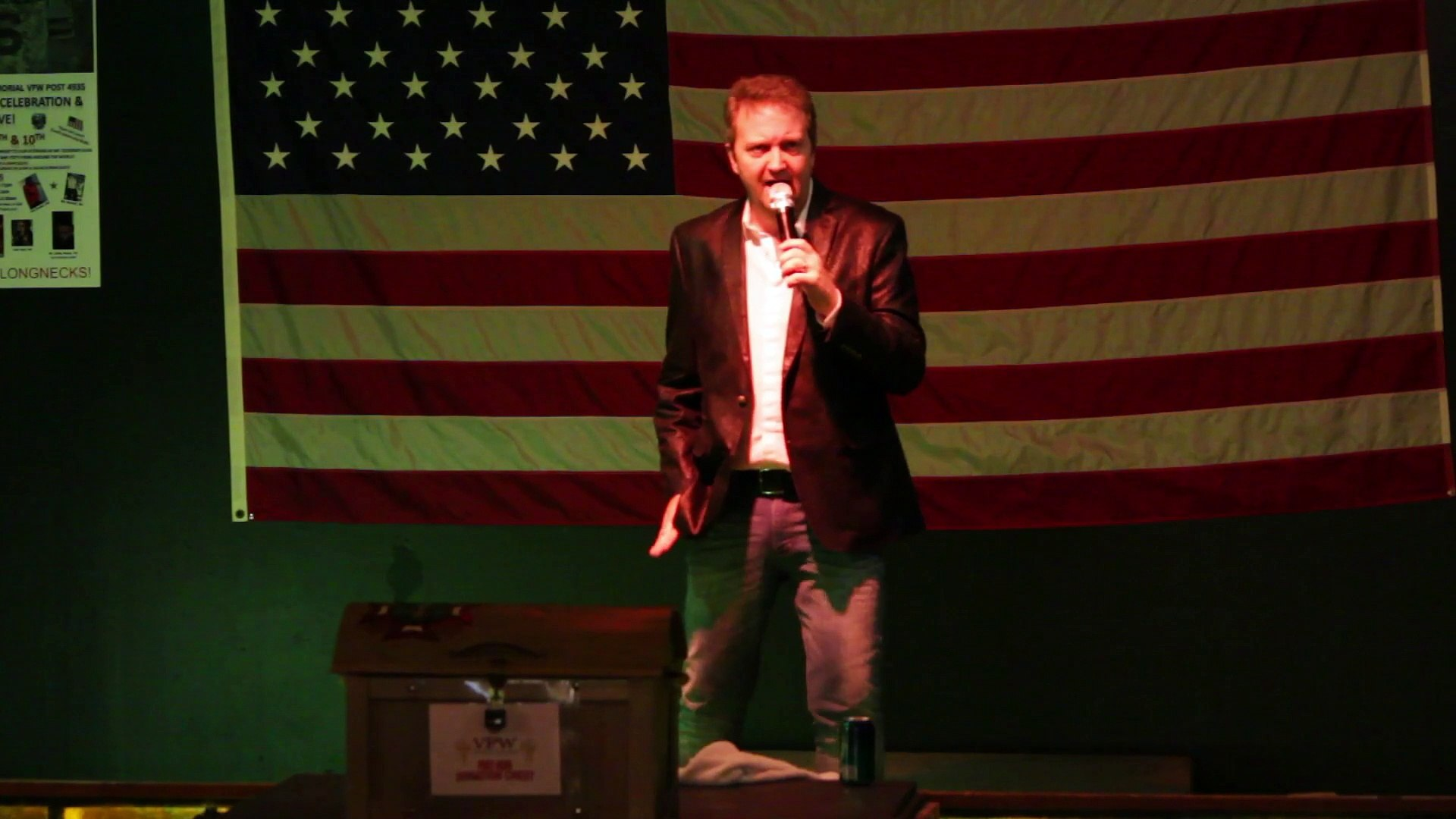Colin Paul sings 'Now and Then' Elvis Presley Memorial VFW 2015