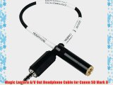 Magic Lantern A/V Out Headphone Cable for Canon 5D Mark II