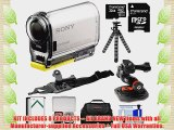 Sony Action Cam HDR-AS100V Wi-Fi GPS HD Video Camera Camcorder with 32GB Card   Battery   Curved