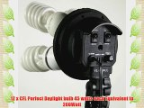 ePhoto VL9004-3K 2400 Watt Dimmable Digital Umbrella Continuous Lighting Kit with 3 Light Stands