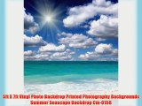 5ft X 7ft Vinyl Photo Backdrop Printed Photography Backgrounds Summer Seascape Backdrop Cm-0158