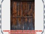Printed Photography Background Rustic Door Titanium Cloth TC1190 Backdrop 5'x6' Ft (60x80)
