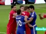 Steven Gerrard Fight vs Diego Costa Chelsea vs Liverpool 1 - 0 Capital One Cup