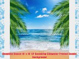 Beautiful Beach 10' x 10' CP Backdrop Computer Printed Scenic Background