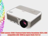 EUG X760  Multimedia HD 3D Ready Home Office LCD Digital Projector 1080P 2600 Lumens Cinema