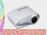 Excelvan LED LCD Portable Mini Multimedia Projector AV USB VGA HDMI SD Home Theater for DVD