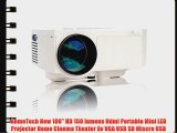 AomeTech New 100 HD 150 lumens Hdmi Portable Mini LED Projector Home Cinema Theater Av VGA