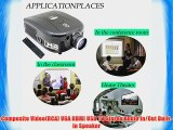 EUG 2800 Lumens 1080p LED 3D HD Office Home Theater Projector 1280x800 Resolution HDMI USB
