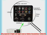 EUG HD Digital LCD LED Video Projector 1080p Home Cinema Theater for Video Games Tv Movies