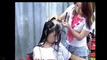 Head Shave ! Full head shaving video (Free hair Videos - Long Hair Cut Hair cutting Videos)