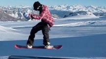 Invasion de riders sur le snowpark du Glacier 3000