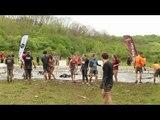 Adrénaline Shots : passage de l'obstacle de The Mud Day Paris du 8 mai 2014 de 12h00 à 12h14
