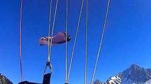 Speedriding vs wingsuit, un dépassement à haut risque au Brévent