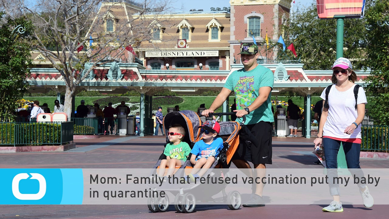 Mom: Family That Refused Vaccination Put My Baby in Quarantine. https://bit.ly/2VWbGqn