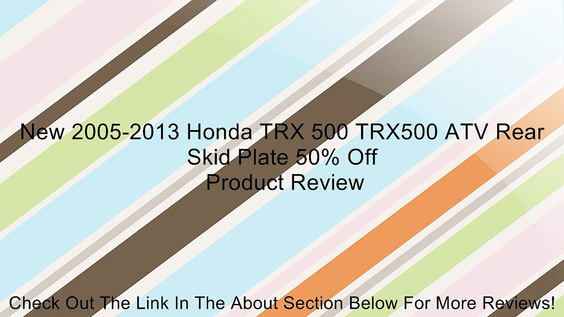 New 2005-2013 Honda TRX 500 TRX500 Foreman ATV OE Rear Brakes Brake Shoes