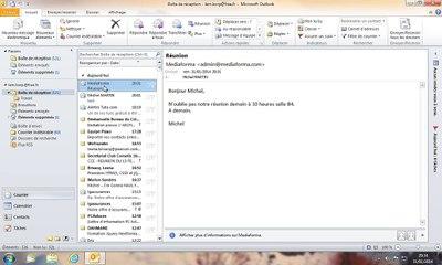 Outllok | Répondre à un message e-mail