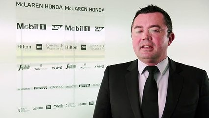 ERIC BOULLIER - Racing director of McLaren Racing. McLaren-Honda MP4-30 Car Launch