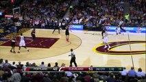 Kyrie Irving Fake and Bake  - Blazers vs Cavaliers - January 28, 2015 - NBA Season 2014-15