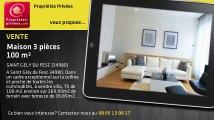 A vendre - maison - SAINT GELY DU FESC (34980) - 3 pièces - 100m²