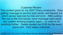 APDTY 15239247 / 25962147 Sensor - Park Assist / Reverse / Backup / Object PDC Sensor For Rear Bumper 2006-2012 General Motors Vehicles (View Description For Specific Model Years) Review