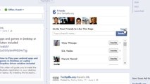 How to invite all your friends at oneshot to like your facebook page?