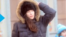 Pregnant Liv Tyler Covers Baby Bump With Puffy Coat, Smiles While Walking in Snowy New York--See the Photos!