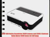 EUG X88 (A) Android Bulit-in Wireless WiFi 3D Full HD Home Office LCD Projector Multimedia