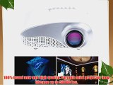 Sunsbell?LED Mini Projector Fashionable Home Theater Support HD Video Games TV Movie TXT Music