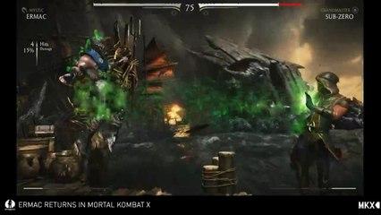 Ermac VS Sub-Zero de Mortal Kombat X