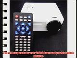 Aketek? Home Cinema Theater Multimedia LED LCD Projector HD 1080P PC AV VGA USB HDMI(White)