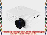 OURSPOP? UR58 UC28 New Arrivial Projector LCD Portable FHD 1080P LCD Projector w/ HDMIVAGUSB