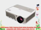 EUG X760 (A) Android4.2 HD Wireless Bulid-in WiFi 3D Ready Home Office LCD Projector 1080P