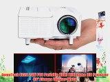 AomeTech UC28 24W PRO Portable HDMI Mini Home LED Projector 60 Cinema Theater-White