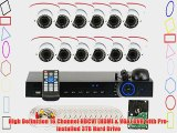 GW Security VD16C12CH891CVI 16-Channel 1080p Preview 720p Realtime Varifocal Zoom Night Vision