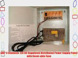 4 Channels 12V DC Regulated Distributed Power Supply panel individually fused 5 AMP Total Output