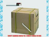 500FT SIAMESE RG59/18-2 WHITE CABLE IN BOX