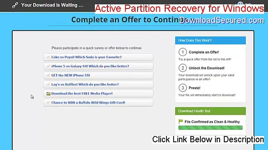 Active Partition Recovery for Windows Download Free (Free of Risk Download  2015)