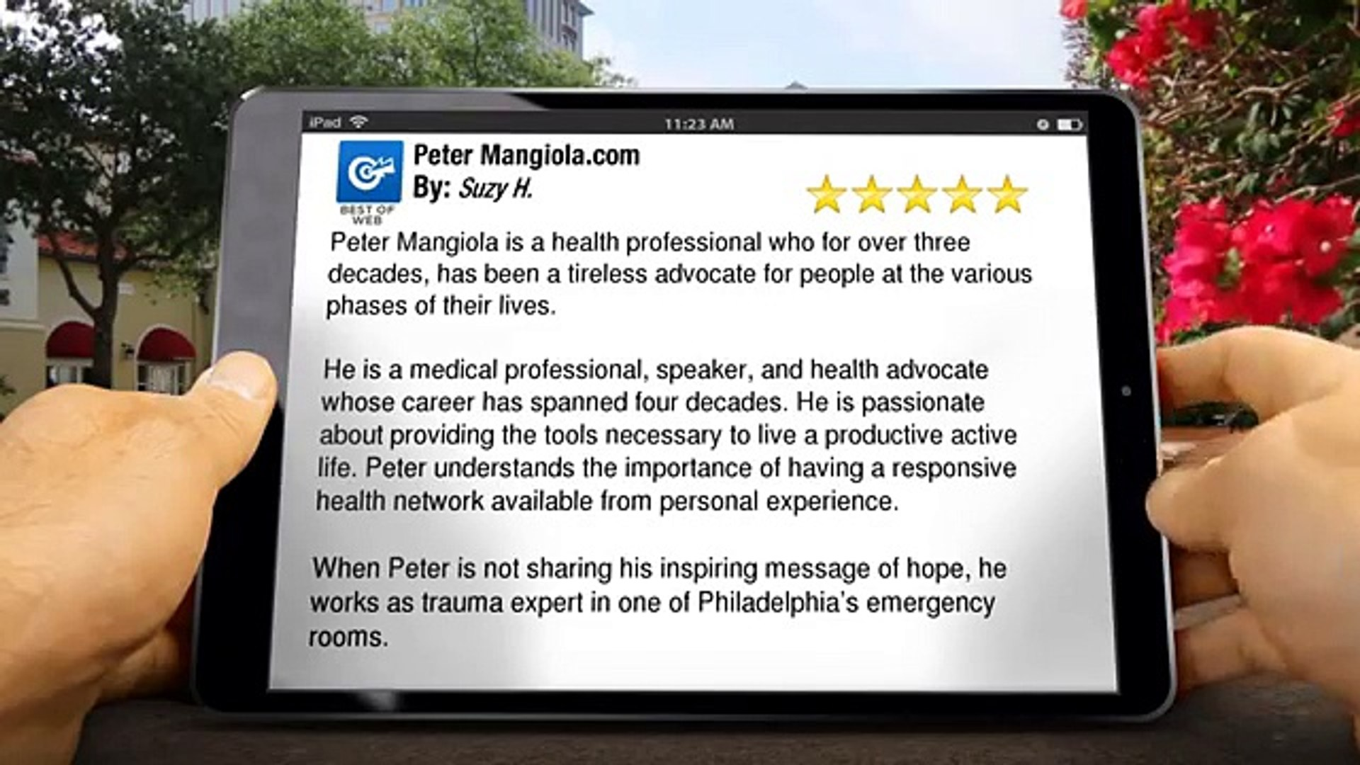 Peter Mangiola Medford Impressive Five Star Review