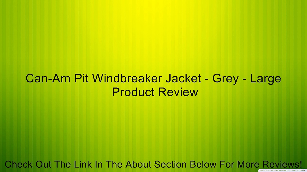 Can-Am Pit Windbreaker Jacket – Grey – Large Review