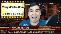 Philadelphia 76ers vs. Minnesota Timberwolves Free Pick Prediction NBA Pro Basketball Odds Preview 1-30-2015