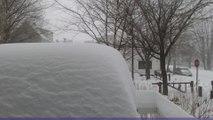 Storm time lapse shows blizzard snowfall