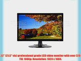 101AV Security Monitor 22-Inch Professional 3D Comb Filter HDMI VGA and Looping BNC Inputs