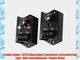 DC 9-12V BNC Female CCTV UTP Video Balun Transmitter Receiver Pair