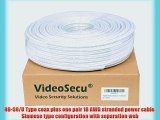 VideoSecu 300ft RG59/U Coaxial 18/2 Video Power Siamese Cable Wire Cord for CCTV Home DVR Security