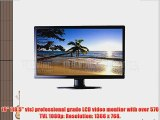 101AV Security Monitor 18.5-Inch Professional 3D Comb Filter HDMI VGA and Looping BNC Inputs